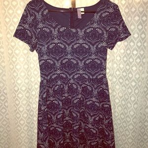 Navy Blue Lace Dress